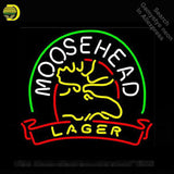 Neon Sign Moosehead Lager neon Light Sign Deer Custom Brand Design Handcrafted Restaurant Hotel Neon signs for sale