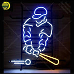 Neon Sign for Baseball Sport Man Pub game room Real Glass Tube Neon Bulb Signboard decorate Handcraft sign Light up sign lampara