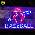 Neon Sign for Baseball Sport Man Real Glass Tube Neon Bulb Signboard decorate restaurant Handcraft sign Light up sign lampara