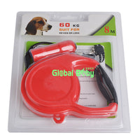 New ABS Material 5M/8M Length Retractable Leashes Leads for Big Dog and Pet with Led Flashlight Safe Travel at Night.