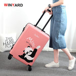New Arrial!20 inches vintage red UK mailbox lovely deer kind panada abs+pc hardside travel trolley luggage,girls cartoon luggage
