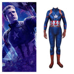 New Avengers 4 Endgame Captain America Steve Rogers Cosplay Costume Kids Adult Zentai Superhero Bodysuit Suit Jumpsuits