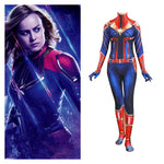 New Avengers 4 Endgame Captain Marvel Carol Danvers Cosplay Costume Women Girls Zentai Superhero Bodysuit Suit Jumpsuits Catsuit