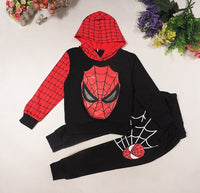 New Baby Boys Spring Autumn Spiderman Sports suit 2 pieces set Tracksuits Kids Clothing sets 100-150cm Casual clothes Coat+Pant