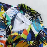 New Brand Summer Quick Dry Men Loose Aloha Shirt Print Hawaiian Party Sand Beach Shirts Big Size L-4XL Beach Shirts #C08
