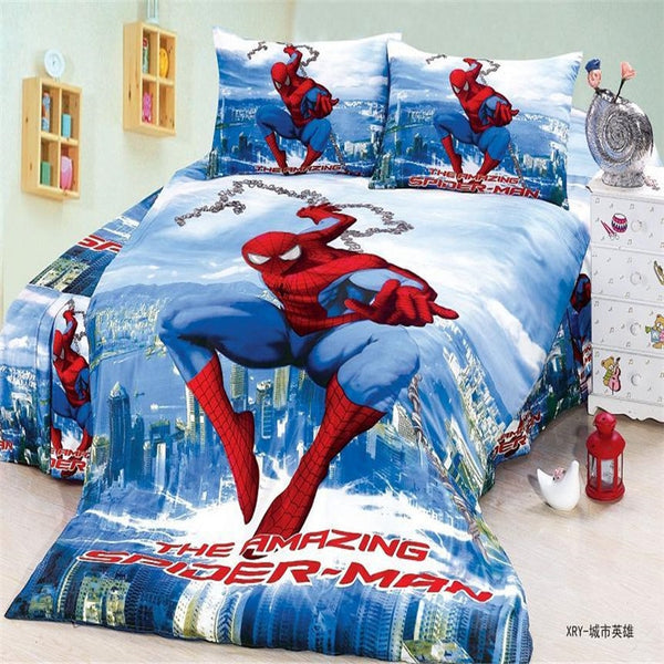 New Children super heroes twin/single size boys bedding set of duvet cover bed sheet pillow case 2/3pcs bed linen set/ultraman