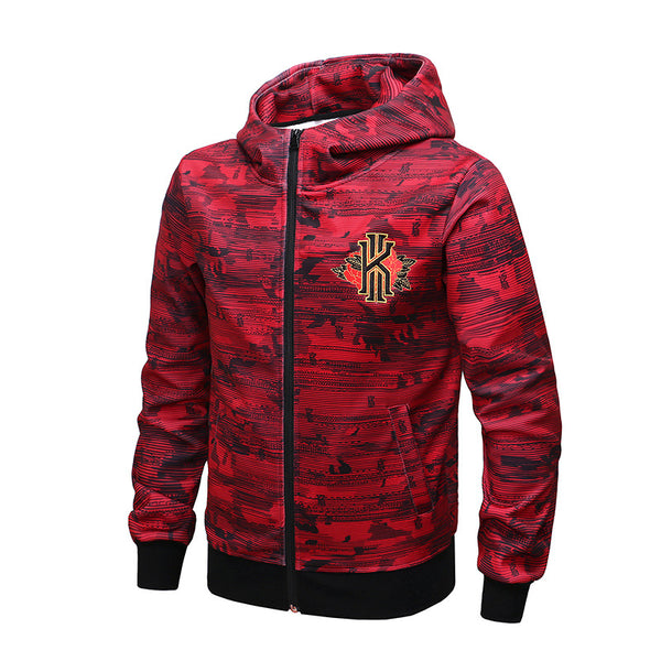 New Large Size Loose 5XL Men's Outdoor Sports Basketball Hoodies KI Logo Embroidery Breathable Anti-pilling Leisure Men's Wears