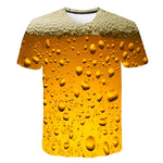 New Man's T-shirt Fathers Day Comfortable Top Its Beer Time Prints Hipster 3D T Shirt Tshirts Compression Spain Shirt T-Shirt