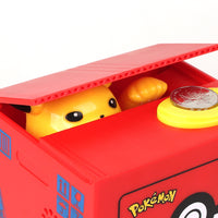 New Pokemon Pikachu Electronic Plastic Money Box Steal Coin Piggy Bank Money Safe Box For Kids Gift Desk Toy