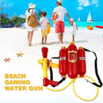 Super Soaker Blaster Fire Backpack Pressure Squirt Pool Toy Children Summer Beach Gaming Water Gun