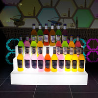 New Staged LED Wine Rack Remote Control Color Changing Led Wine Table Bar Wine Display Stand Furniture Drink Bottle Holder Shelf