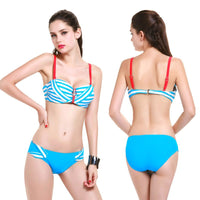 New!Three Pieces/Set Women Straped Bikini Underwire CloseUp Swimsuit Halter Swimwear Strappy Biquini Bikini Brazilian B107