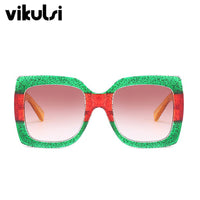 Newly Arrived Italy Sunglasses Luxury Brand Designer Women Square Sun glasses Green Red Yellow Sun Glasses Female Goggle Eyewear