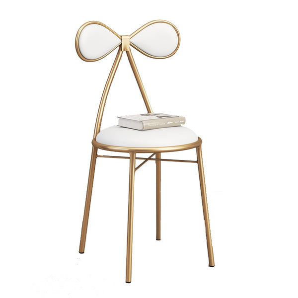 Nordic Dining Chair Modern Gold net red home beauty Shop Photo Makeup stool Restaurant Cafe Nail Shop Chair dressing table Chair