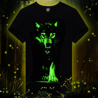 Novelty 3D' T shirt Cool Glow in the dark. Please for USA, order 2 SIZE BIGGER.