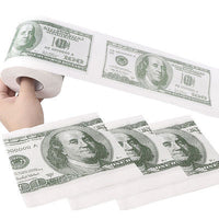 Novelty Funny One Hundred Dollar Bill Soft Printed Home Roll Toilet Paper US Dollar Tissue Donald Trump Toilet Money roll Paper