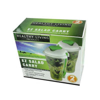 Salad Container Set with Dressing Containers & Forks ( Case of 8 )