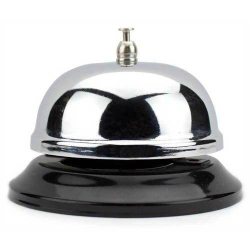 10cm Chrome Service Bell with Black Base
