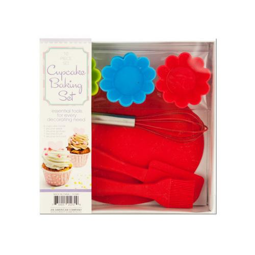 Silicone Cupcake Baking Set ( Case of 1 )