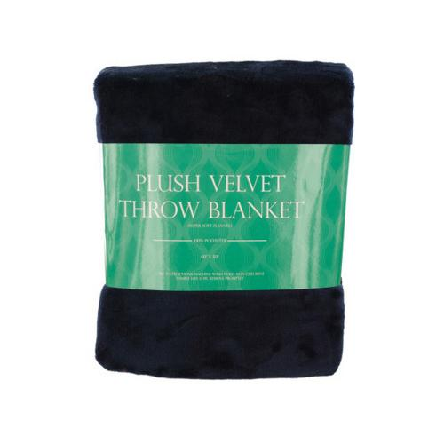 Super Soft Plush Velvet Fleece Throw Blanket ( Case of 4 )