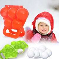 Outdoor Sport Winter Five Snowball Maker Clip Personality Interesting Yellow Duck Snow Fight Mold Children Kids Game