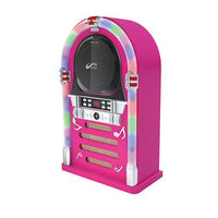 Bluetooth/CD Jukebox with LED Neon Lights - Pink