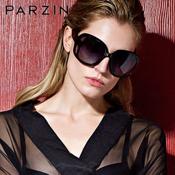 PARZIN Polarized Sunglassesb Women Elegant Female Sun Glasses Big Frame Driving Glasses Ladies Shades With Case  6216