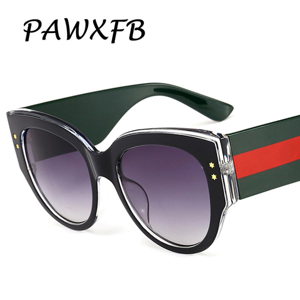 PAWXFB 2018 New Brand Designer Italy Cat Eye Sunglasses Women Men Driving High quality Sun Glasses Female Oculos de sol Shades