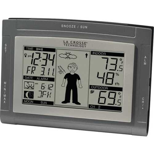 La Crosse Technology(R) WS-9611U-IT-CBP Wireless Weather Station with Sun/Moon & Advanced Forecast Icons