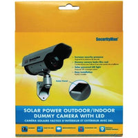 SecurityMan(R) SM-3803 Solar-Powered Indoor/Outdoor Simulated Camera with LED