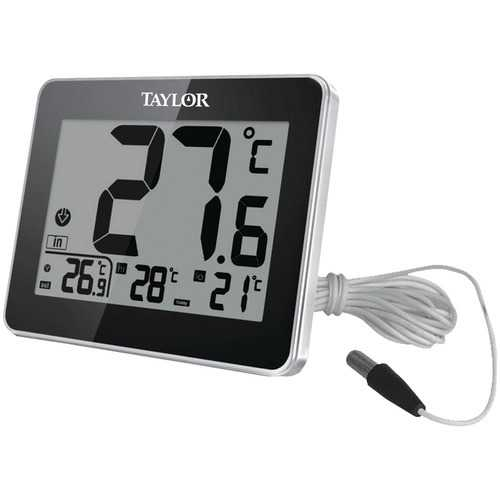 Taylor(R) Precision Products 1710 Indoor/Outdoor Thermometer with Wired Probe