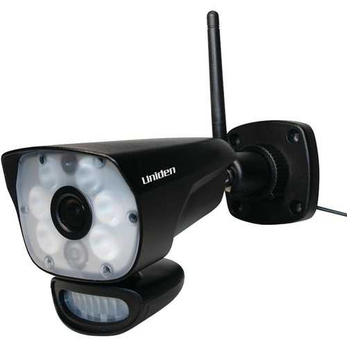 Uniden(R) LIGHTCAM35HD LightCam 35 HD Stand-Alone Wi-Fi(R) Camera, Spotlight & Motion Sensor