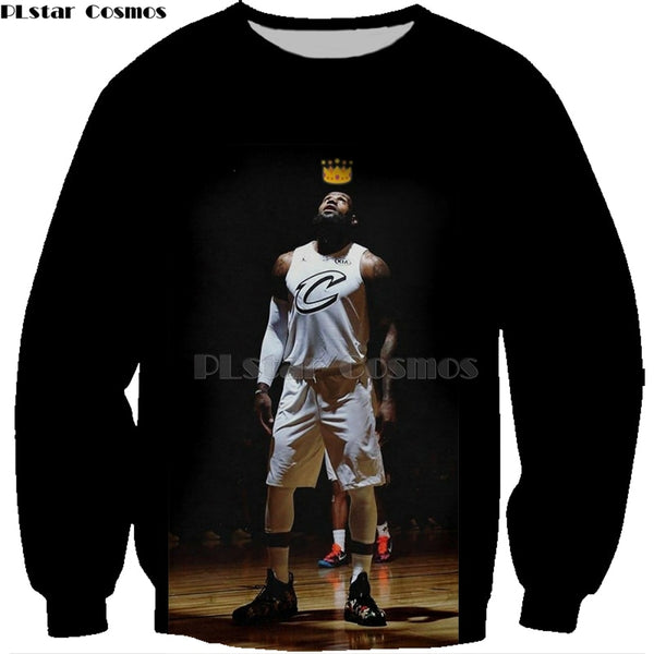 PLstar Cosmos New Fashion basketball Hoodies celebrity Stephen Curry/LeBron James  Print 3d Sweatshirts shirt Tracksuits Unisex