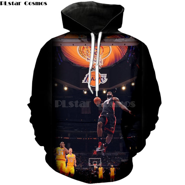 PLstar Cosmos New Fashion basketball Hoodies celebrity Stephen Curry/LeBron James  Print 3d Sweatshirts shirt Unisex Tracksuits