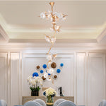 Phube Lighting Copper Branches Chandelier Light Lotus LeavesLustre Bar Salon Hotel Project Light Lighting