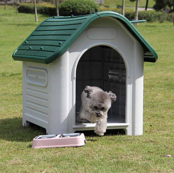 Plastic Large Dog House Kennel Large Luxury Pet House Outdoor Dog Home with Windows  Wholesale