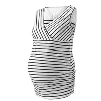 Plus size 5XL Hollow Out Sleeveless Feeding Vest Pregnancy Tees Maternity Nursing Tops Breastfeeding T-shirts For Pregnant Women
