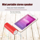 Portable 3.5mm Jack Stereo Mini Speaker For Cell Phone for iPhone, Android, Tablet, Laptop and other devices.