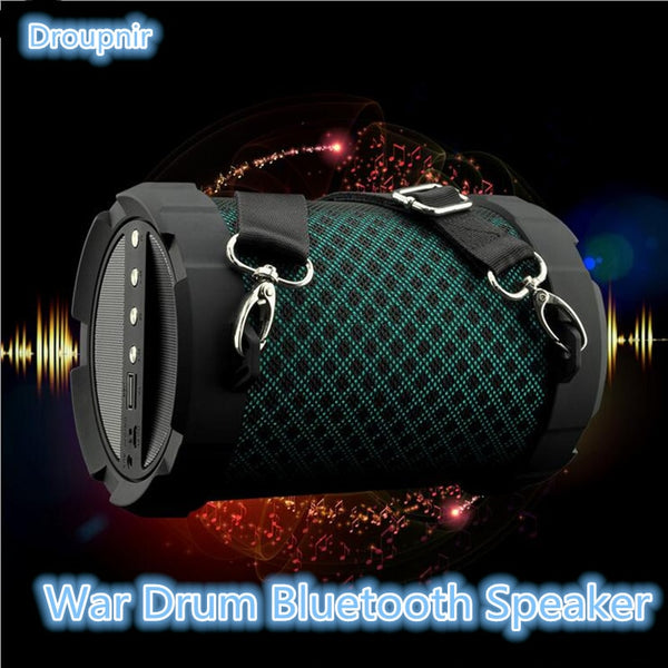 Portable Hook strap Wireless Bluetooth Speaker soundbar 10W Subwoofer speaker bluetooth Carry Shoulder speakers with FM clock