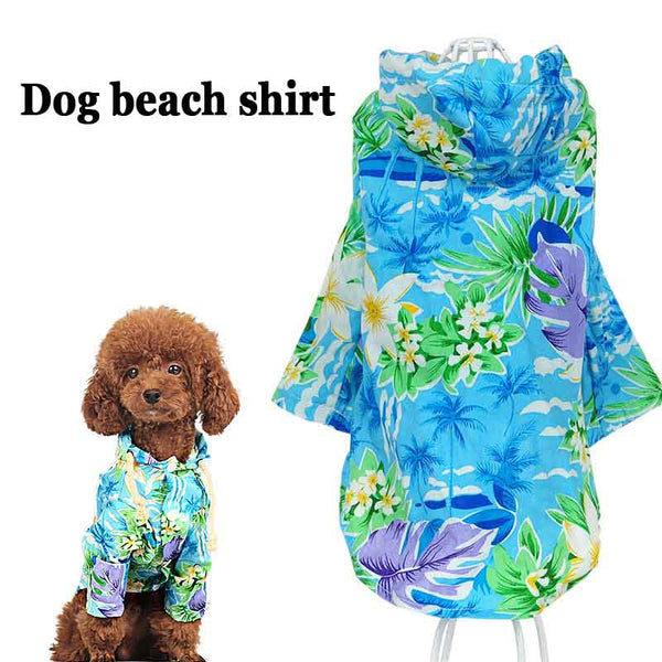 Printed Summer small Dog cat pet beach T shirt vest Clothes jacket coat Hawaii style dog puppy hoodie Sportswear soccer jersey