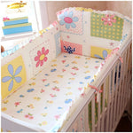 Promotion! 6PCS Competitive Price Bedding Set for Babies,Lovely Design Baby Cot Set (bumper+sheet+pillow cover)