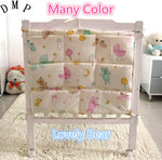 Promotion! Cartoon 62*52cm Baby Bed Hanging Storage Bag Cotton Crib Organizer Toy Diaper Pocket for Crib Bedding Set