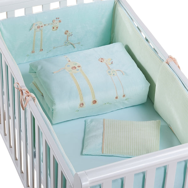 Promotion! Cotton Baby Cot Bedding Set Newborn Cartoon Crib Bedding Detachable Quilt Pillow Bumpers Sheet Cot Bed Linen 2 size