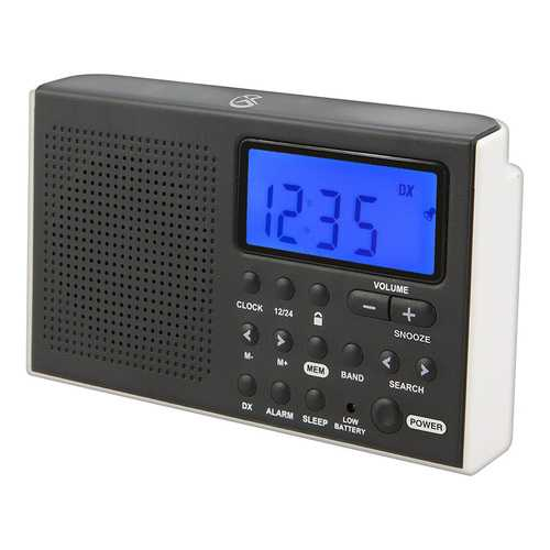 GPX Shortwave Radio 5.07 x 1.36 x 3.12 Inches Requires 2 AA Batteries Black