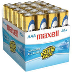 Maxell Alkaline Batteries (aaa; 20 Pk; Brick) (pack of 1 Ea)