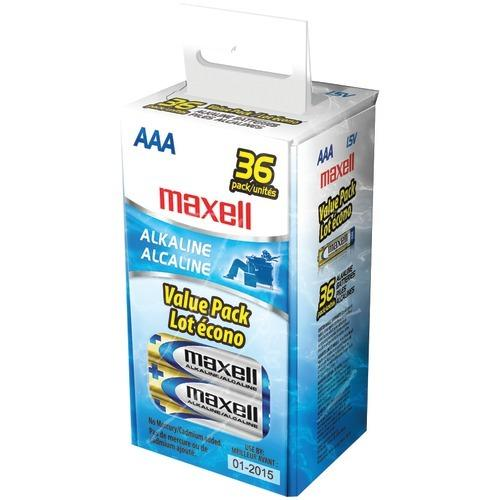Maxell Alkaline Batteries (aaa; 36 Pk; Box) (pack of 1 Ea)
