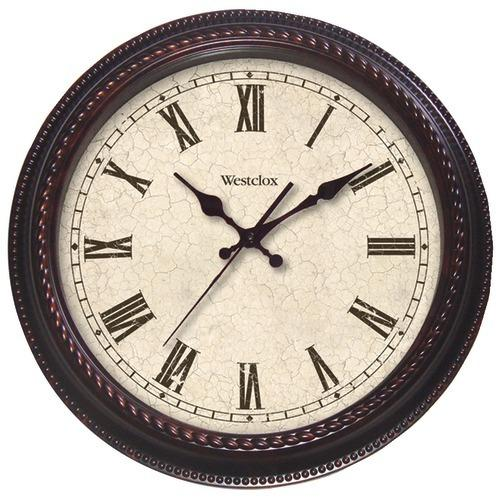 "Westclox 20"" Round Marbled Case Finish Clock (pack of 1 Ea)"