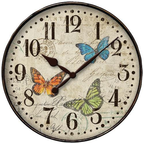 "Westclox 12"" Round Butterfly Wall Clock (pack of 1 Ea)"
