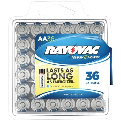 Rayovac Alkaline Batteries Reclosable Pro Pack (aa, 36 Pk) (pack of 1 Ea)