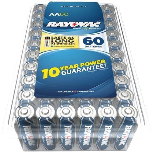 Rayovac Alkaline Batteries Reclosable Pro Pack (aa, 60 Pk) (pack of 1 Ea)